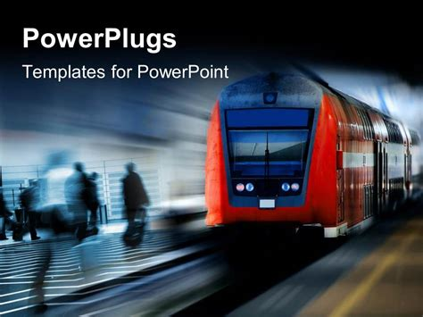 railway themes for powerpoint powerpoint template a bus moving fast on a rail with