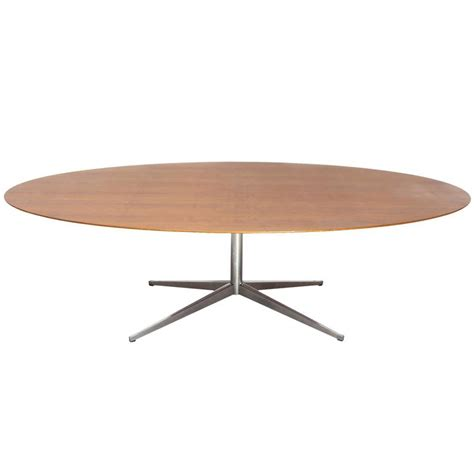 large oval dining table designed by florence knoll 1960s