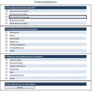 free questionnaire and survey templates product
