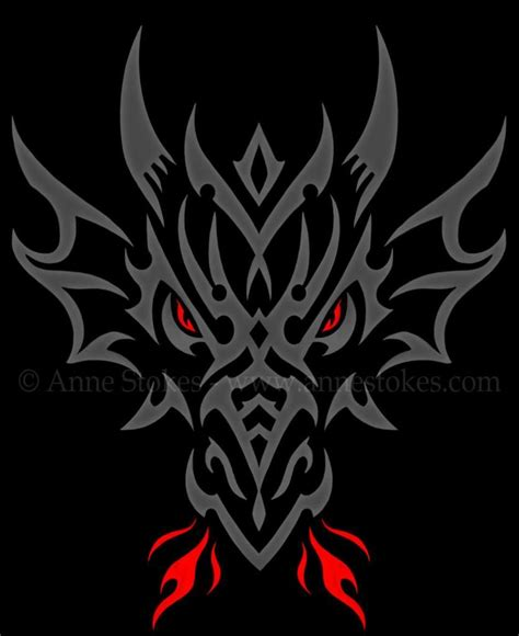 tribal dragon head tattoos tribal 187 tribal http www annestokes