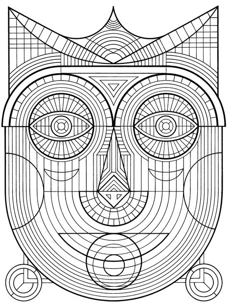 detailed geometric coloring pages to print free printable geometric coloring pages for adults