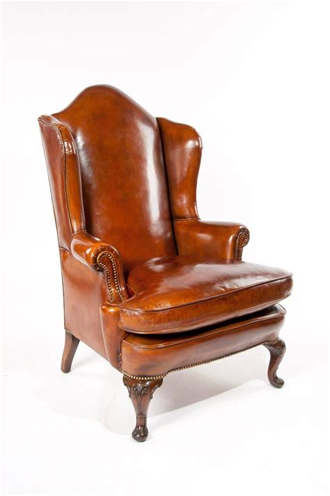 leather wing armchair superb antique walnut leather wingback armchair mid 19th