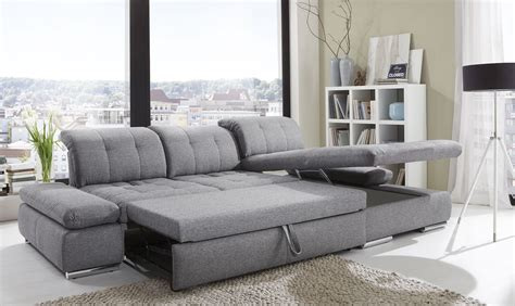 Where To Buy Sleeper Sofa Alpine Sectional Sleeper Sofa Right Arm Chaise Facing Black White Fabric Buy At Best