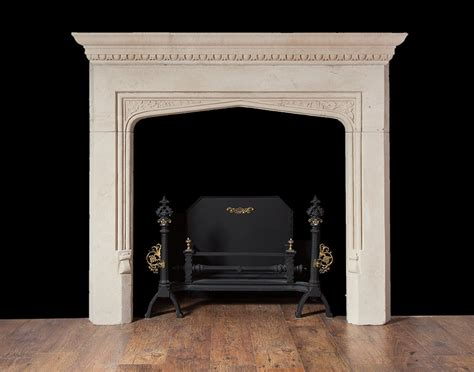 Tudor Style Fireplace by Portland Limestone Fireplace In The Tudor Revival Style