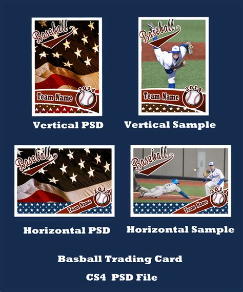 baseball trading card template for photoshop 14 baseball card psd images baseball trading card