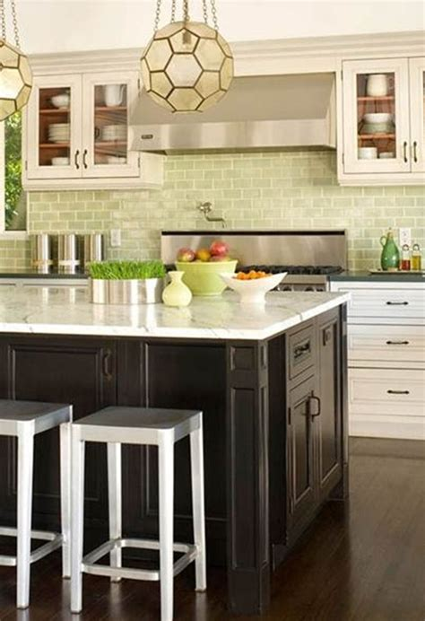 kitchen backsplash green spicing up subway tile centsational girl
