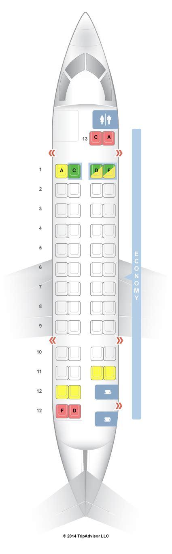 seatguru seat map air canada de havilland dash 8 300