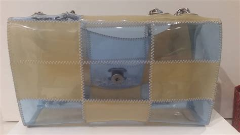 Chevron Sling Bag Jelly Chanel Grey 1997 1999s chanel clear jelly bag at 1stdibs