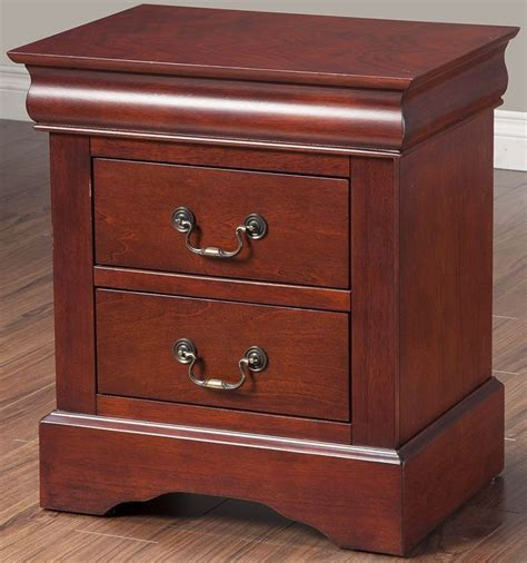 Louis Philippe Nightstand Cherry louis philippe ii cherry 2 drawer nightstand from alpine