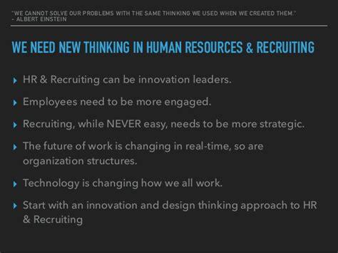design thinking in hr hr recruiting innovation sprint