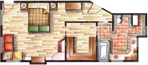 floor plan rendering techniques rendering of a floorplan loft pinterest