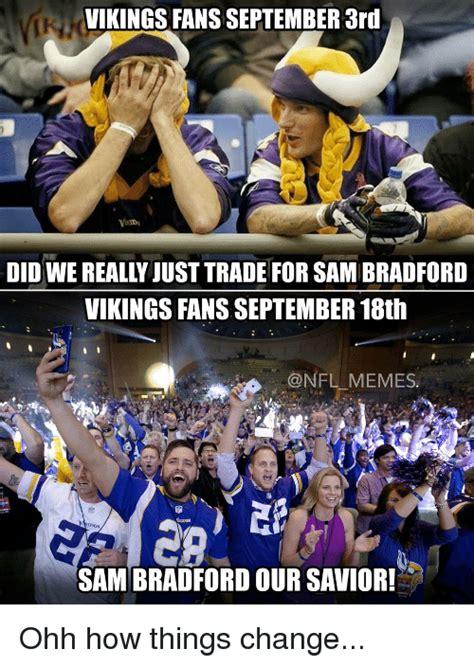 Sam Bradford Memes - funny viking memes of 2016 on sizzle vikings