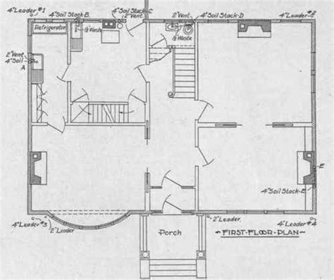 Plumbing Plans For House by Plumbing Layout Plan For House House Design Plans