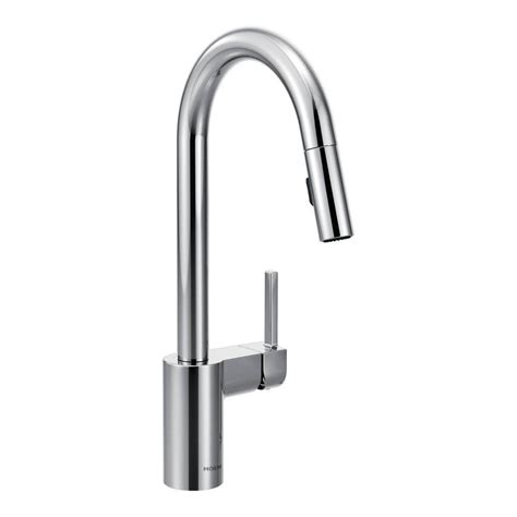 moen kitchen pullout faucet moen align single handle pull down sprayer kitchen faucet with reflex in chrome 7565 the home