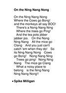 printable version ning nang nong spike milligan ning nang nong by bowborough teaching