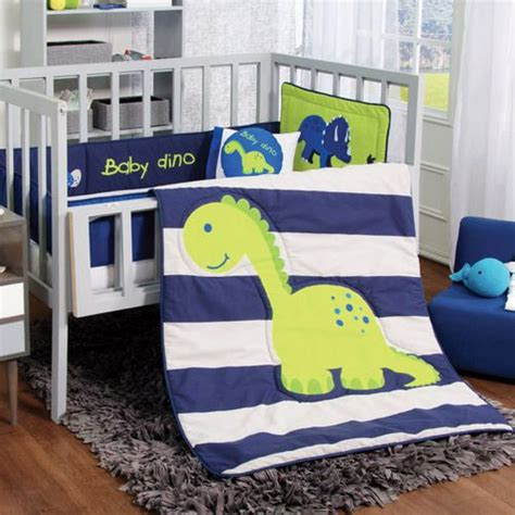 Adventures For Your Dreams Crib Bedding Set Baby Dino 6 Pcs Dino Crib Bedding