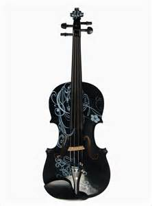 colored violins violin black and white color