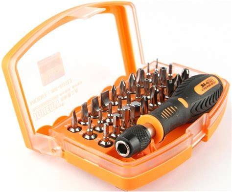 Obeng Set Magnetic 31 In 1 jakemy 31 in 1 strong magnetic screwdriver set jm 6103