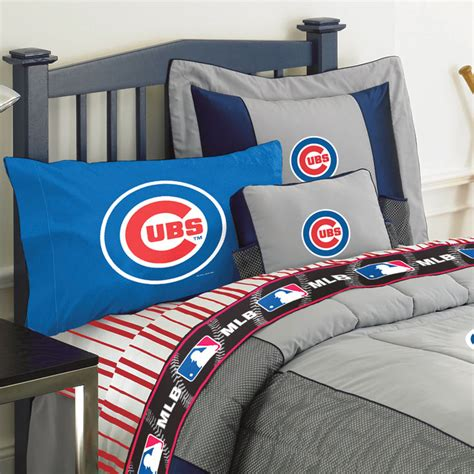 chicago cubs queen size sheets set