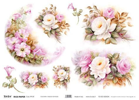 carta decoupage fiori szukaj w flowers kwiaty