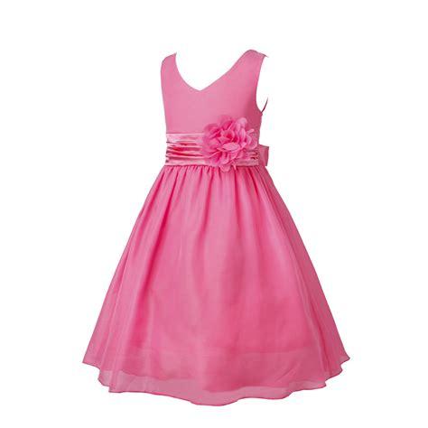 Pink Flower Dress pink chiffon flower dresses