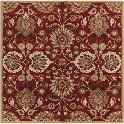 square area rugs 9 x 9 artistic weavers foxcroft cherry 9 ft 9 in x 9 ft 9 in square indoor area rug s00151020147