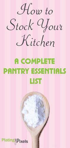 1000 ideas about kitchen essentials list on