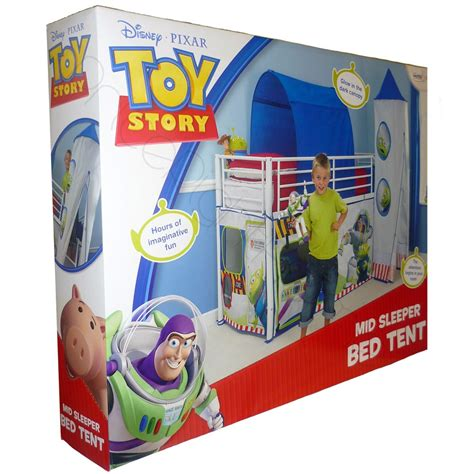 toy story bed toy story mid sleeper cabin bed tent new official buzz ebay