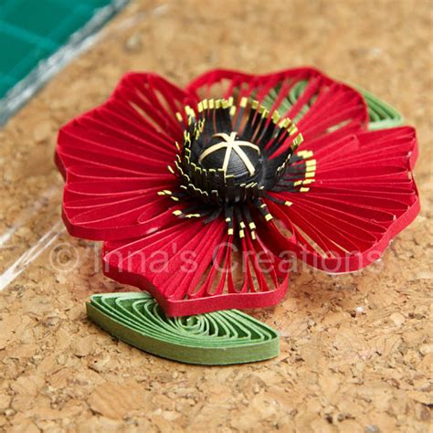 quilling poppy tutorial inna s creations quilled poppies step by step part 2