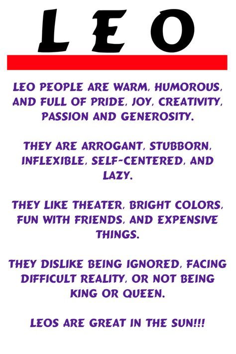 quotes about leos personality quotesgram