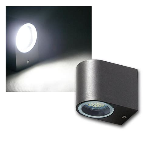 240v Outdoor Lighting Led Outdoor Wall Light Anthracite Black Lantern With Smd Leds 240v Ip44 3w Ebay