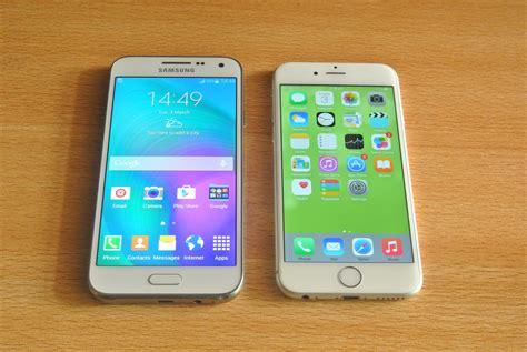 Samsung E5 Samsung Galaxy E5 Vs Iphone 6 Comparison Hd
