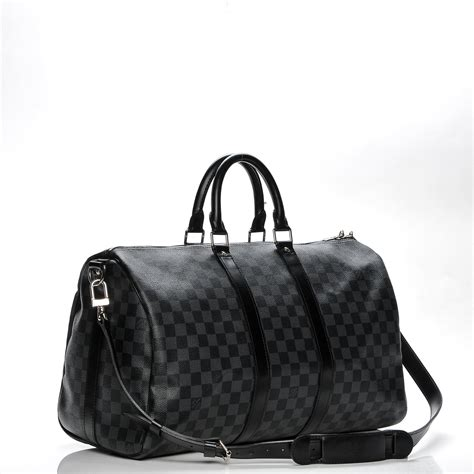 Jual Tas Lv Keepal 45 Damier Graphite Travel Mirror Quality 2 louis vuitton damier graphite keepall bandouliere 45 197696