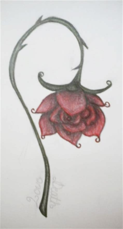 wilting rose tattoo a wilted by alyc1a on deviantart