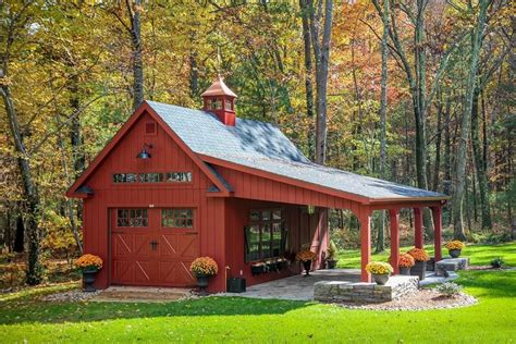 Barn Style Shed Detached Carport Shed Farmhouse With Dream Garage