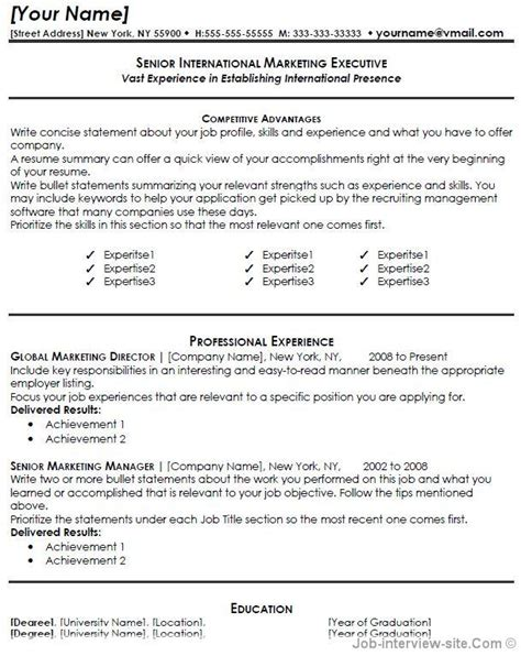 free resume templates exles best resumes