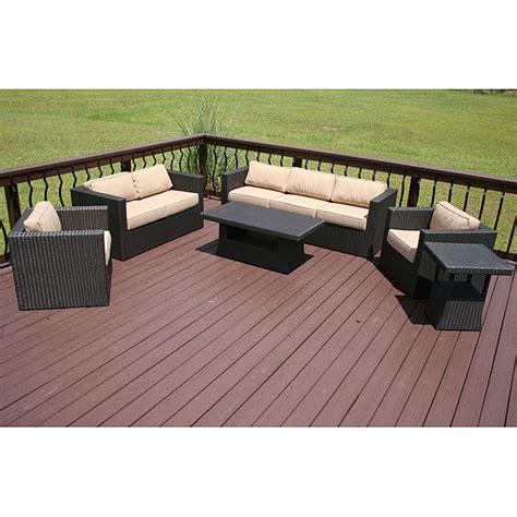 faroe  piece  weather wicker patio furniture set  overstockcom shopping big
