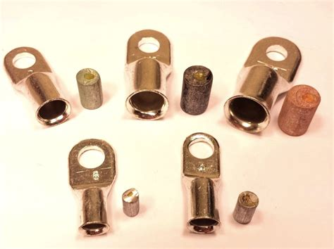 copper l post tops battery cable ends lugs copper ring terminals wire