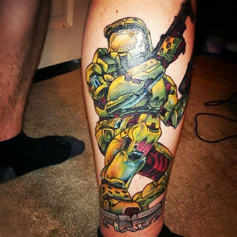 halo 2 tattoo as seen on loganj666 tattoos pinterest