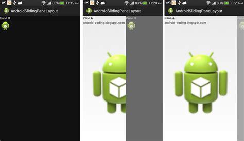 android layout x android coding slidingpanelayout exle