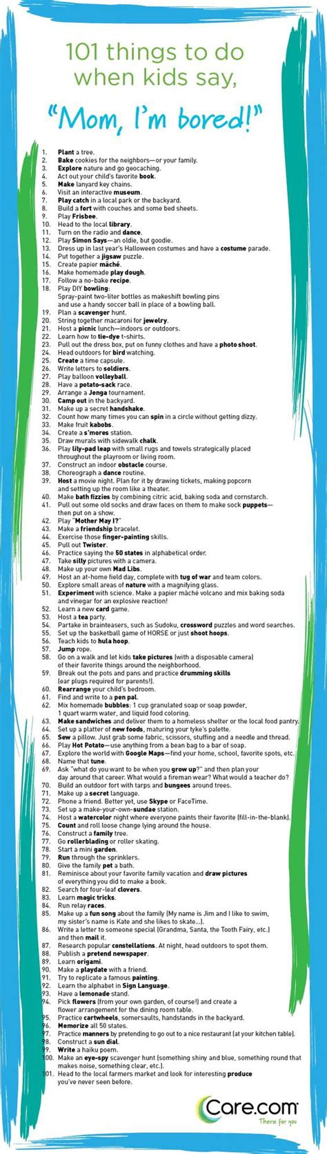 printable list of things to do in chicago 101 things to do when kids say i m bored care com