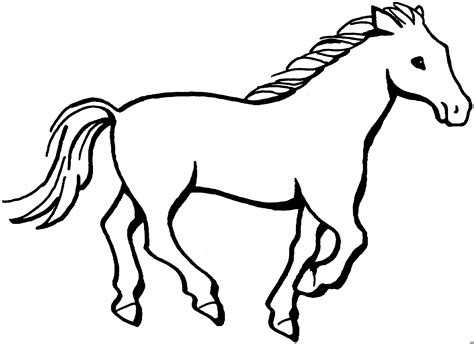horse coloring pages that you can print running horse coloring pages printable