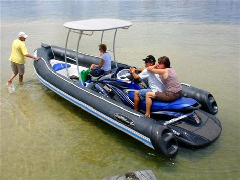 sea doo jet ski powered boat can 750cc push this boat