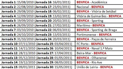 Calendario Benfica Di 225 De Um Benfiquista Calend 225 Do Benfica 2010 2011