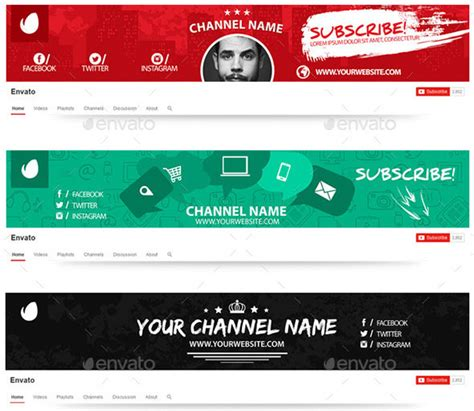Gjithcka Rreth Botes 15 Best Youtube Channel Art Banner Psd Template Channel Banner Template
