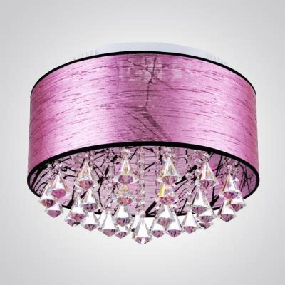 Purple Ceiling Light Shades Glamorous Clear Falls And Purple Fabric Shade Add Charm To Gorgeous Flush Mount