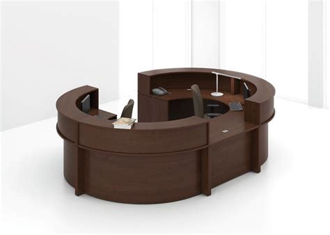 Reception Furniture From Groupe Lacasse Office Oval Reception Desk