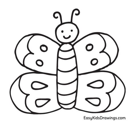 preschool coloring pages butterfly how to draw a butterfly super easy for kids easy kids