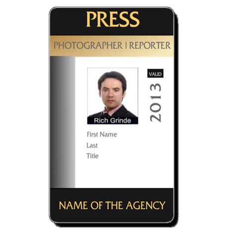 photographer id card template free custom id card templates by idcreator make id badges