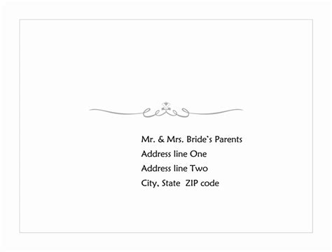 Card Envelope Template Word by Wedding Response Card Envelope Scroll